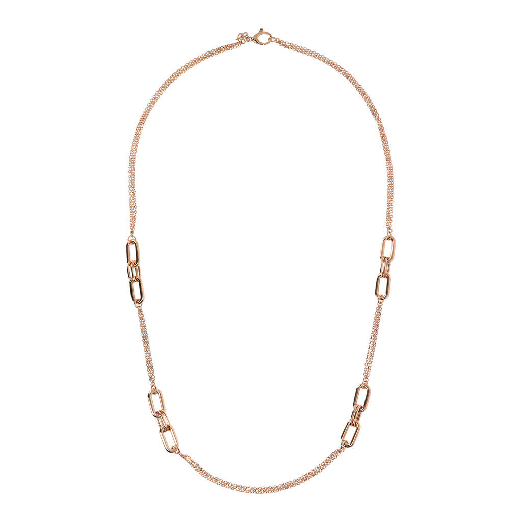 PUREZZA D/C 3 STRANDS CHANEL NECKLACE WITH OVAL ELEMENT - WSBZ01619 from above