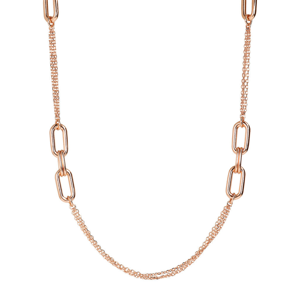 PUREZZA D/C 3 STRANDS CHANEL NECKLACE WITH OVAL ELEMENT - WSBZ01619