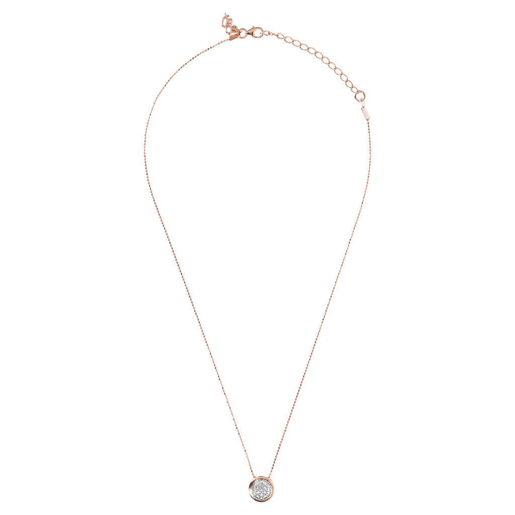ALTISSIMA D/C BEADED CHAIN WITH ROUND CZ GEMSTONE NECKLACE - WSBZ01609 from above