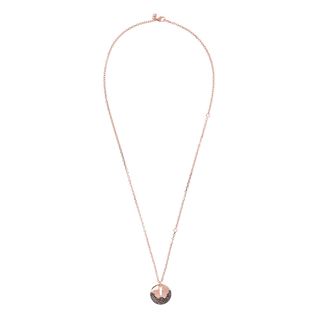 AURORA D/C CHAIN WITH PENDANT CZ GEMSTONE - WSBZ01748 MORGANITE from above