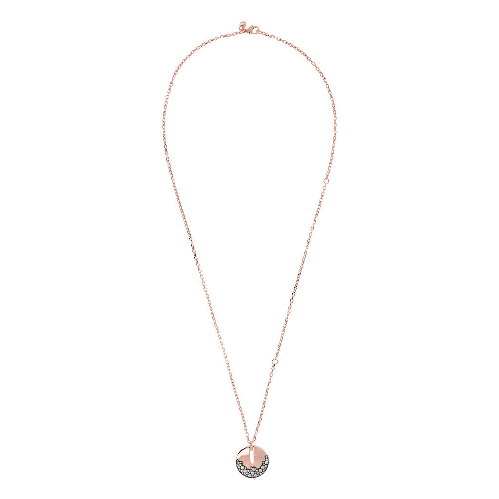 AURORA D/C CHAIN WITH PENDANT CZ GEMSTONE - WSBZ01748 from above
