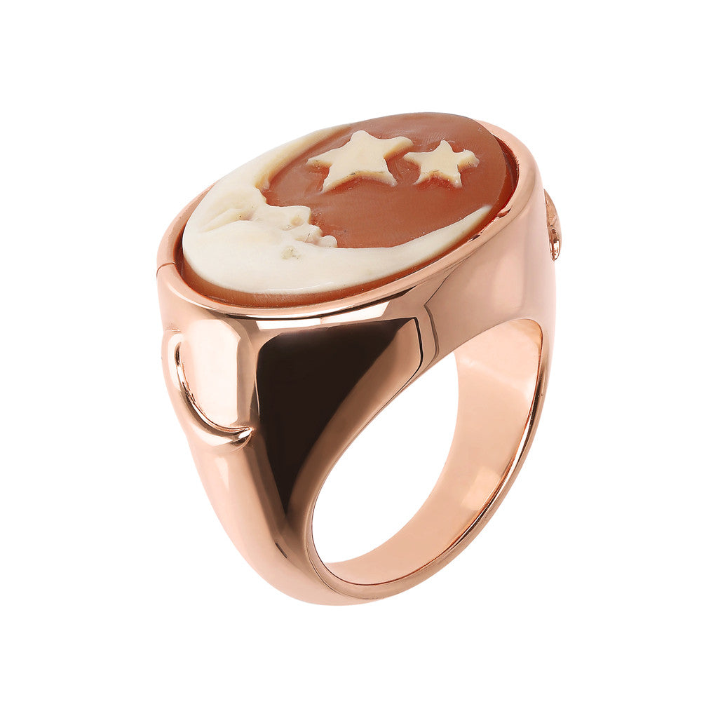 CASSIS-CAMMEO CAMEO LIMITED EDITION ADJUSTABLE RING WITH OVAL 15X20MM MOON CAMEO - WSBZ01671