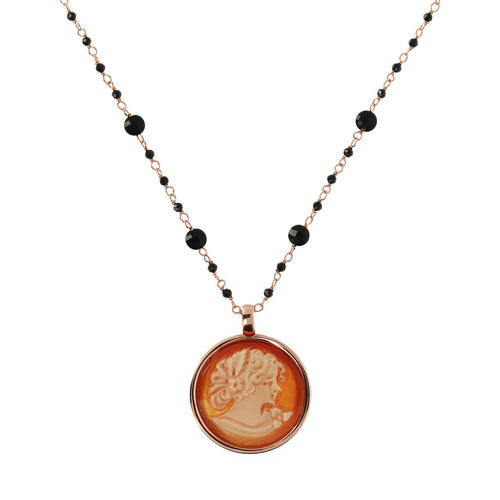 CASSIS-CAMMEO CAMEO LIMITED EDITION ROUND CAMMEO 20 MM WOMAN PROFILE PENDANT - WSBZ01659