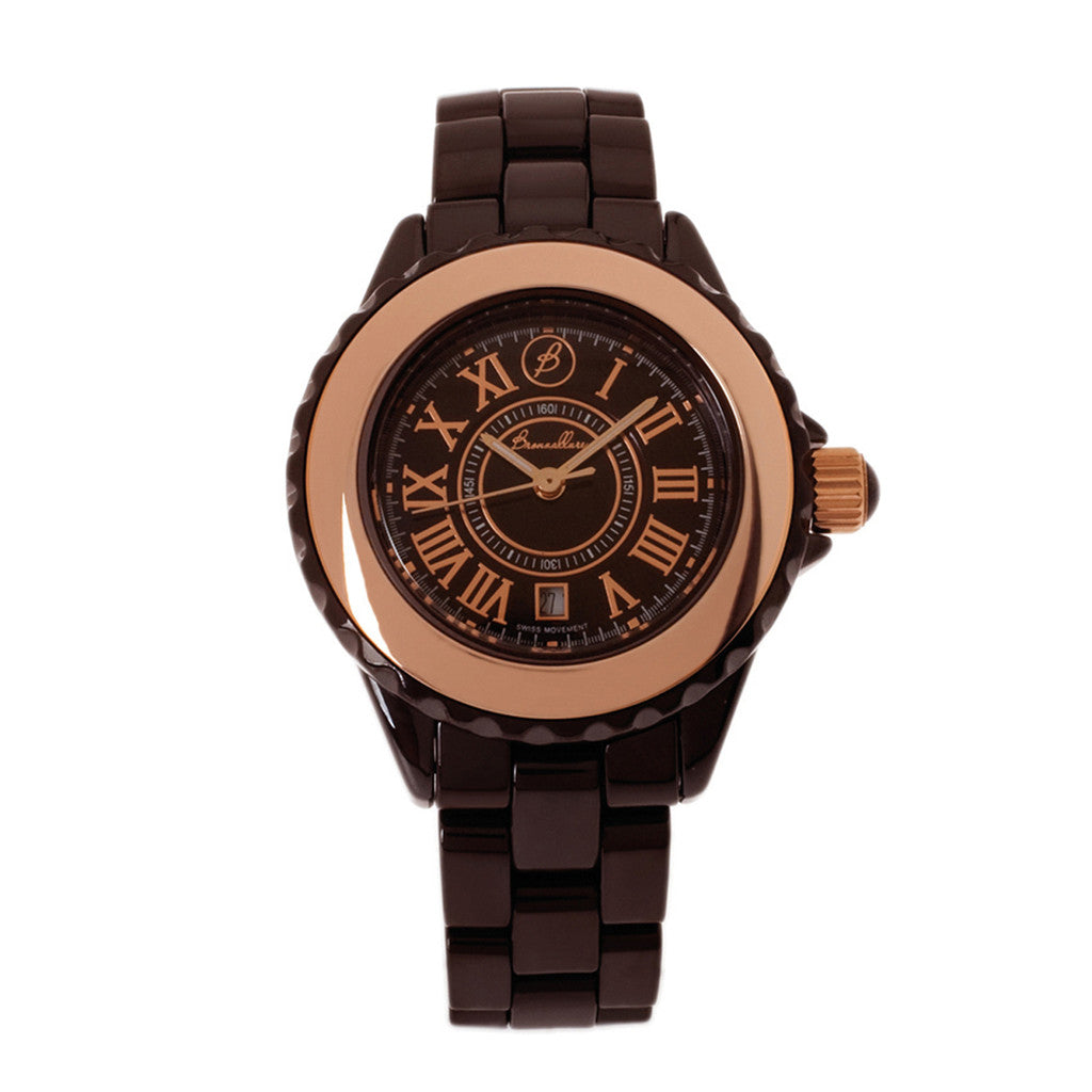 CERAMIC WATCH-BROWN CERAMIC