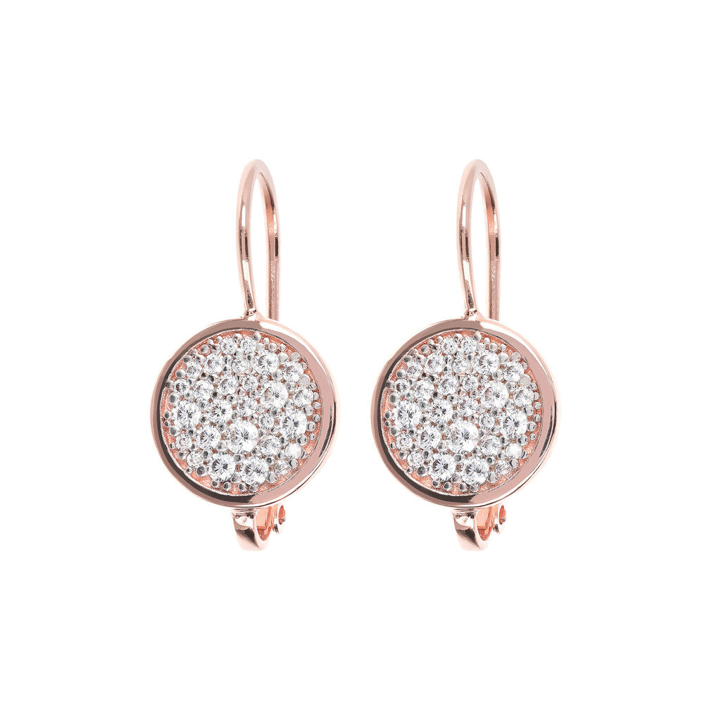 CZ Dangle Earrings with Micropave CUBIC ZIRCONIA