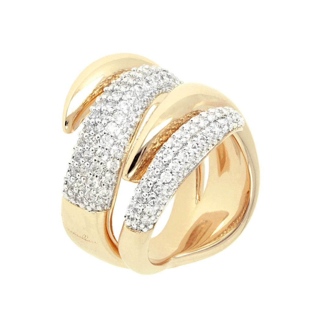 Fiamma Ring CZ and Yellow Gold