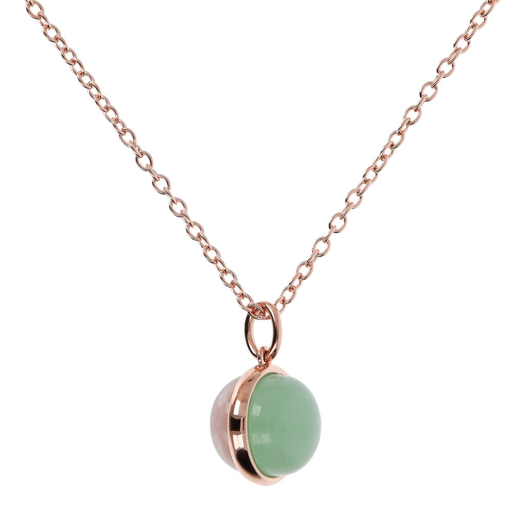 Cabochon Cut Genuine Gemstone Pendant Necklace