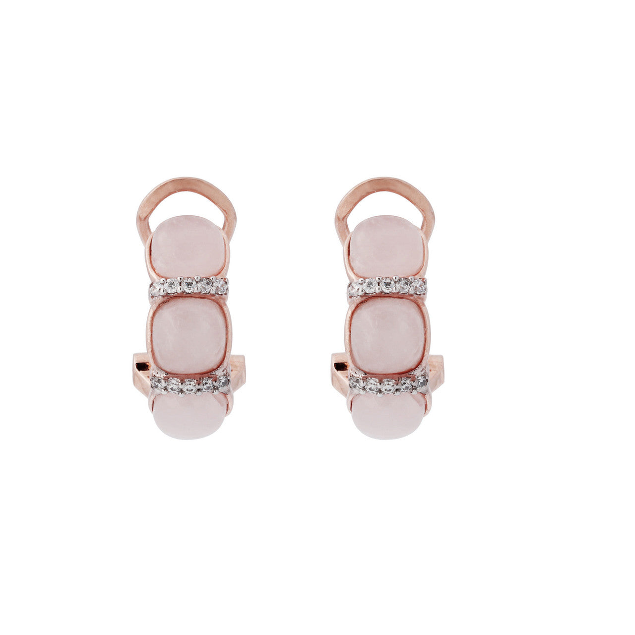 Cabochon Earrings CZ