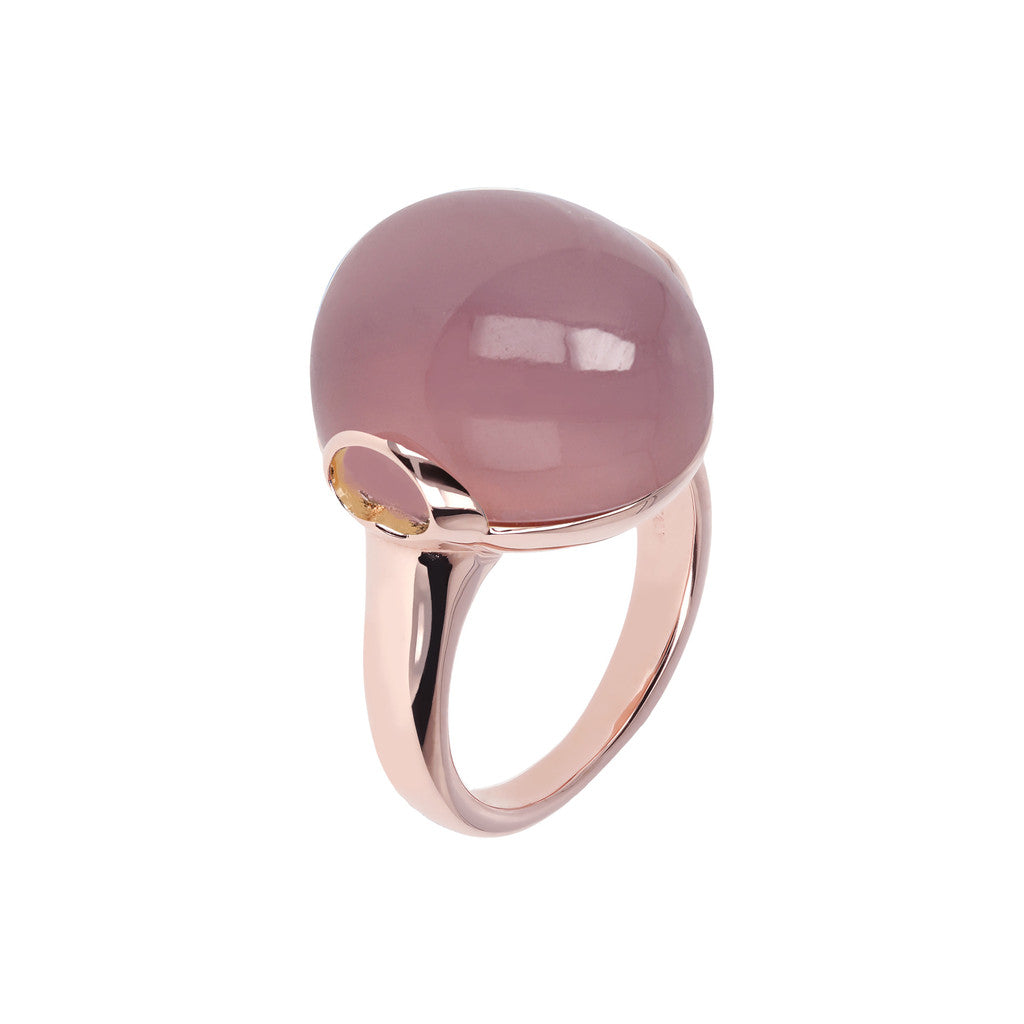 Cabochon Elegance Ring VIOLET CHALCEDONY
