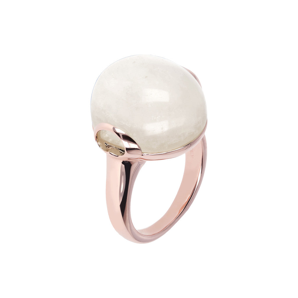 Cabochon Elegance Ring WHITE MOONSTONE