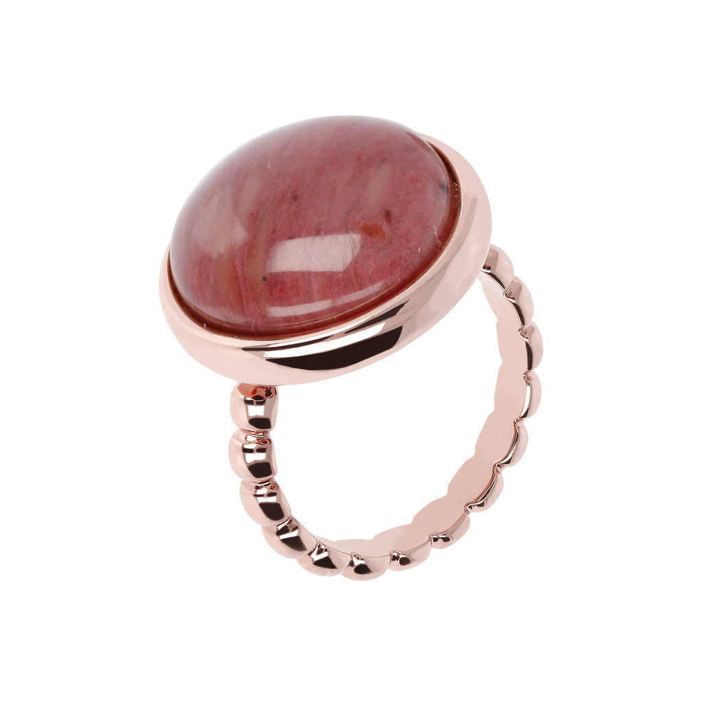 Gemstone cabochons Ring RED FOSSIL WOOD d6cb567e9ca0d