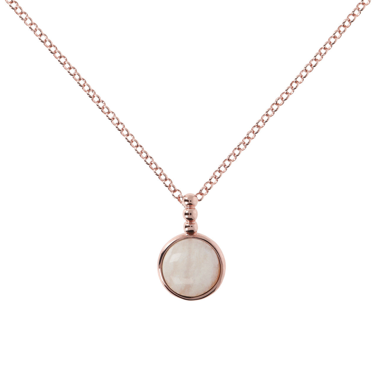 Cabochon Necklace WHITE MOONSTONE