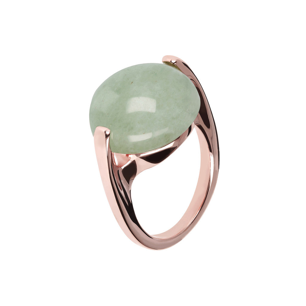 Cabochon Ring Natural Gem AVENTURINE