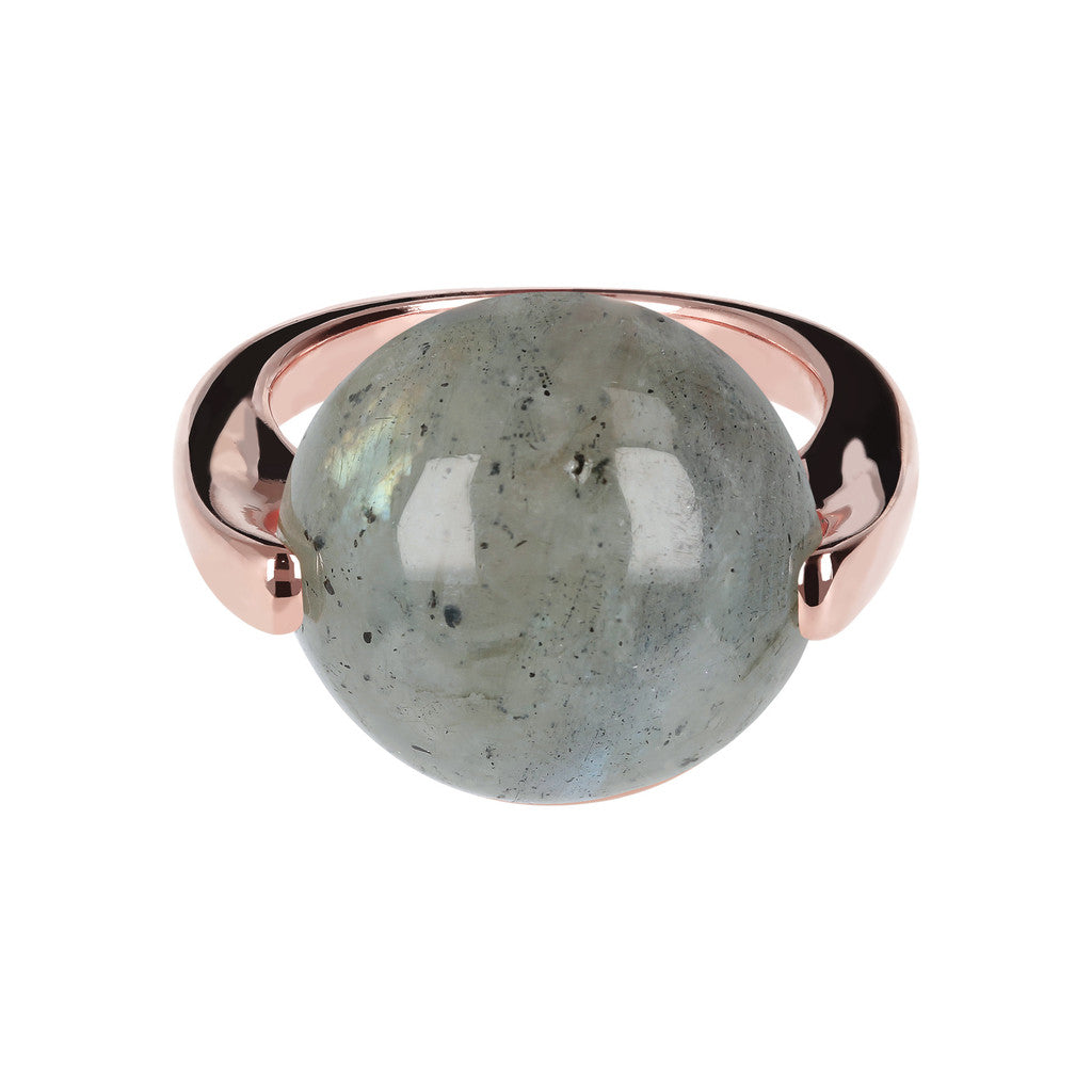 Cabochon Ring Natural Gem LABRADORITE setting