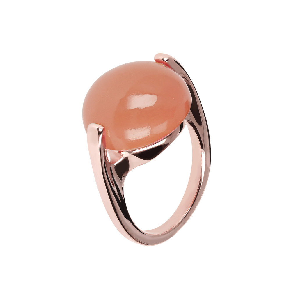 Cabochon Ring Natural Gem PINK CHALCEDONY