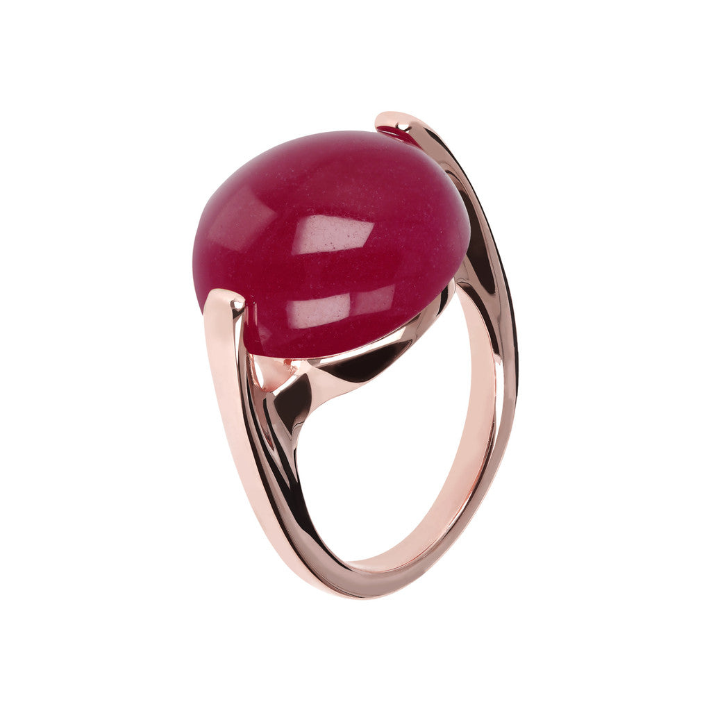 Cabochon Ring Natural Gem PLUM AGATE