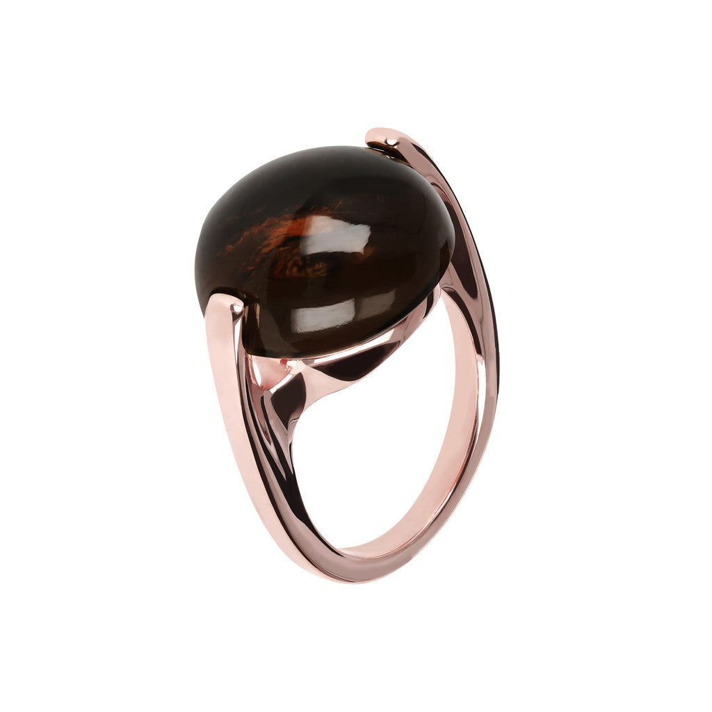 Cabochon Ring Natural Gem SMOKY QUARTZ