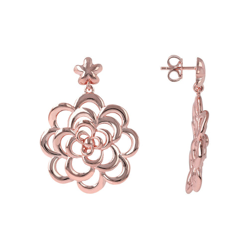 Camellia Earrings front and side