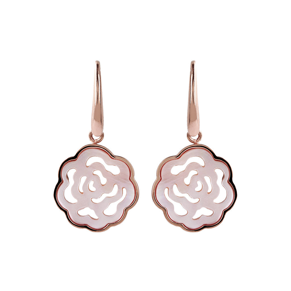 Camellia White Earrings Mother of Pearls