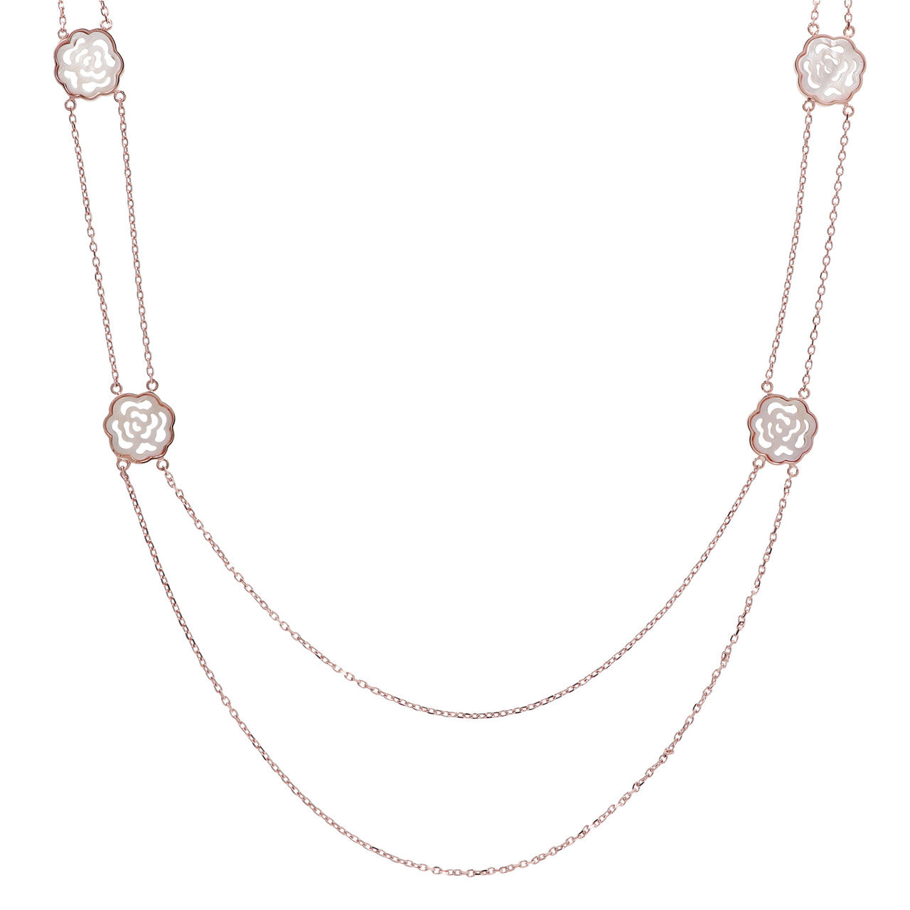 Camelllia Two Strand Necklace