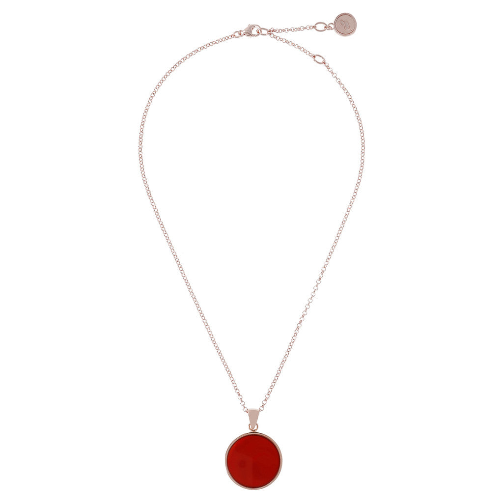 Carnelian  Disc Necklace from above