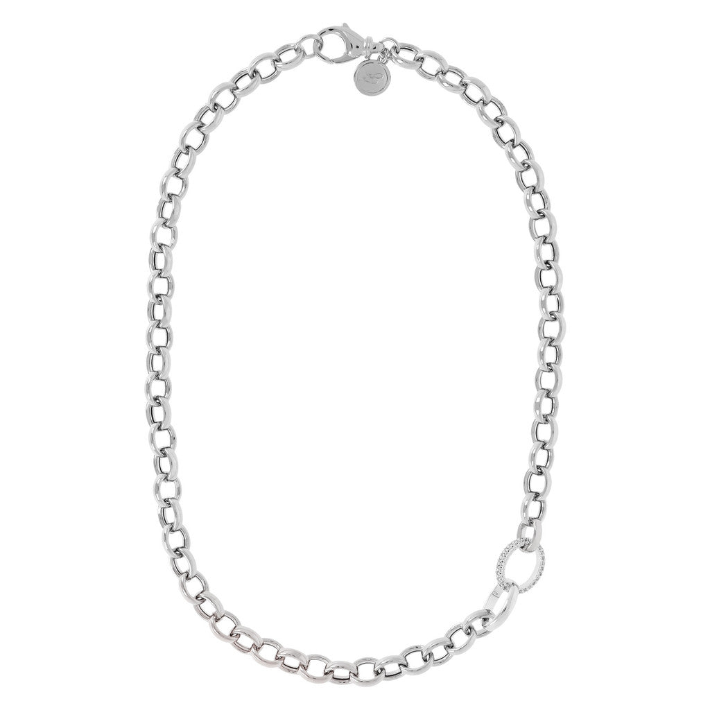 Chain and CZ Colier Necklace Luna