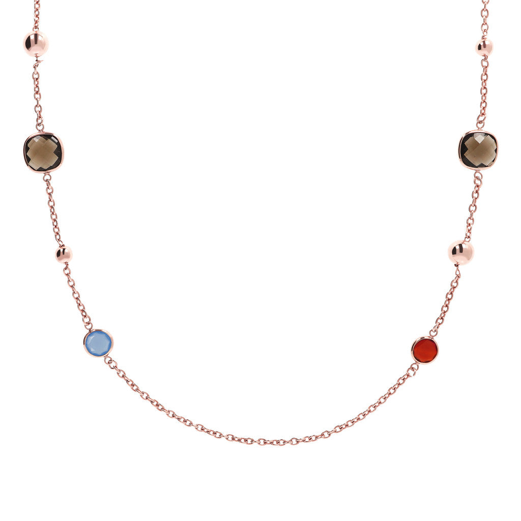 Chalcedony Stationary Long Necklace