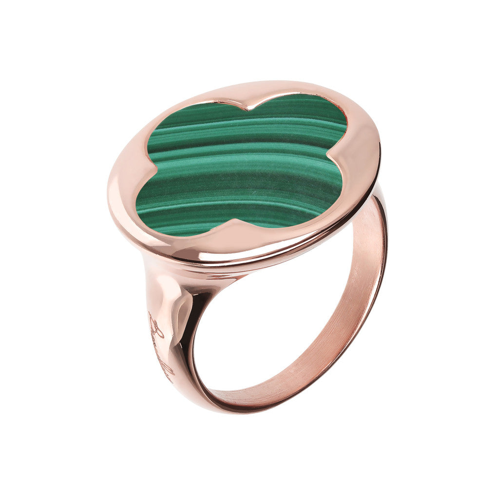 Clover Signet Ring MALACHITE