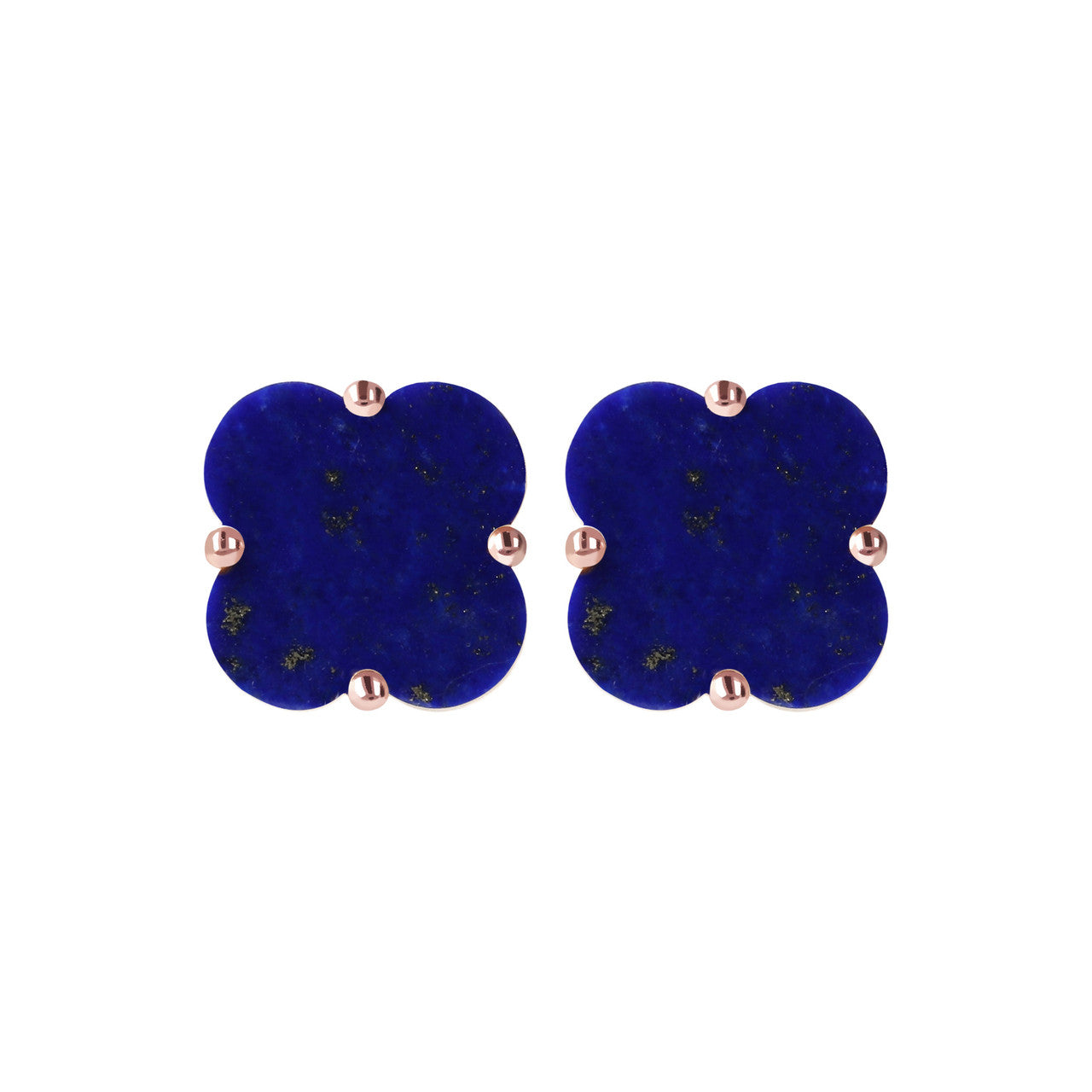 Clover Stud Earrings LAPIS