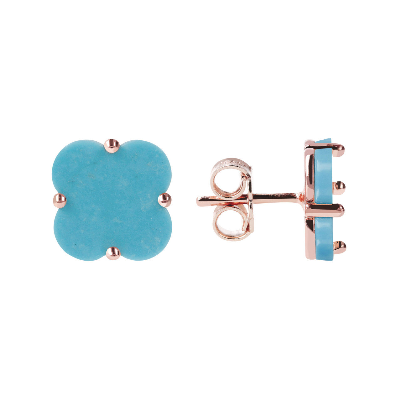 Clover Stud Earrings MAGNESITE front and side
