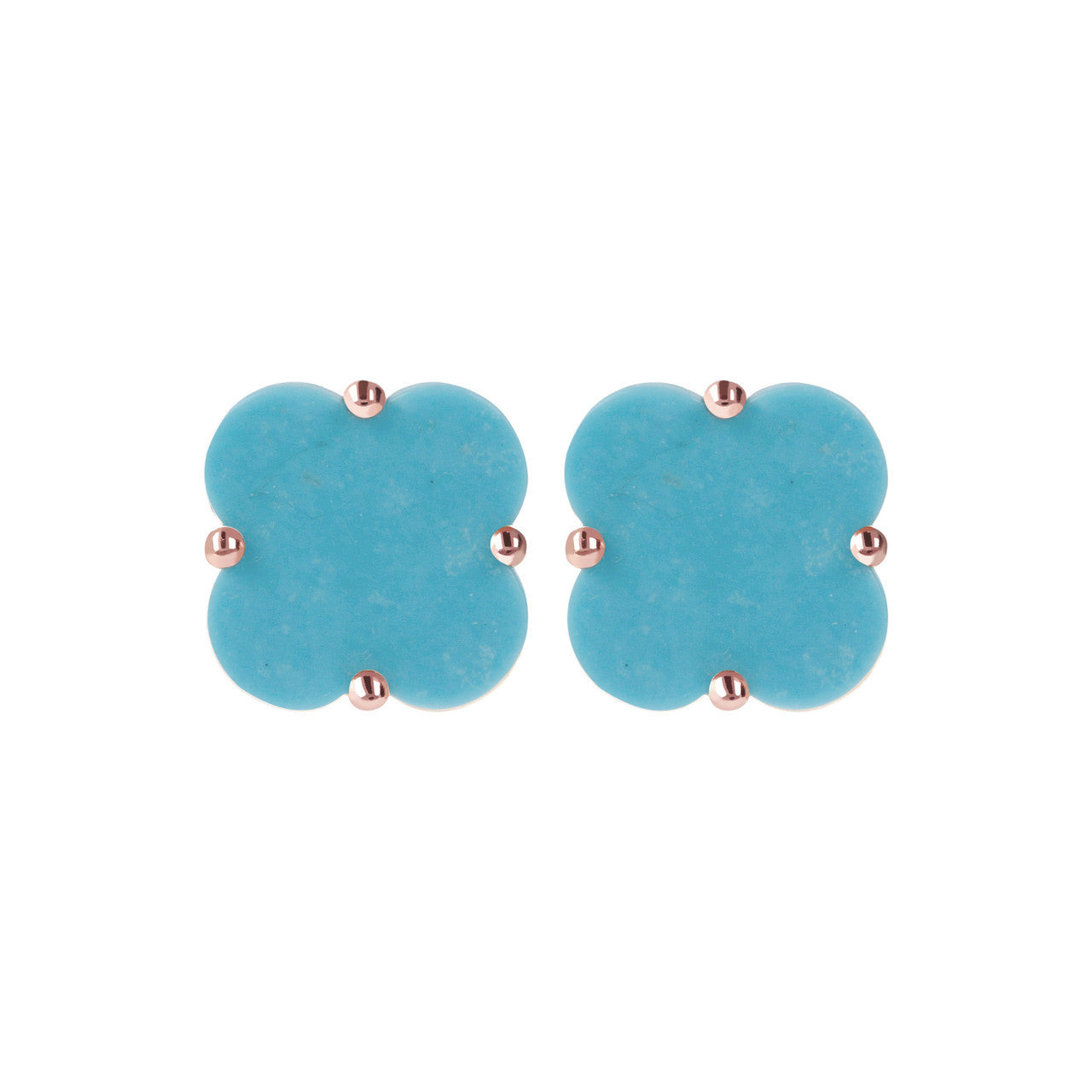 Clover Stud Earrings MAGNESITE