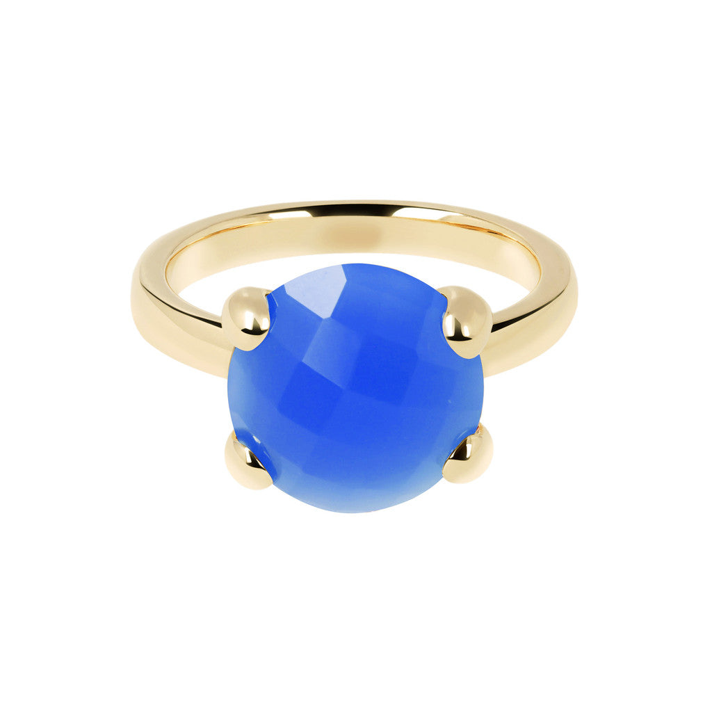 Cocktail Ring Natural Stone Yellow Gold setting