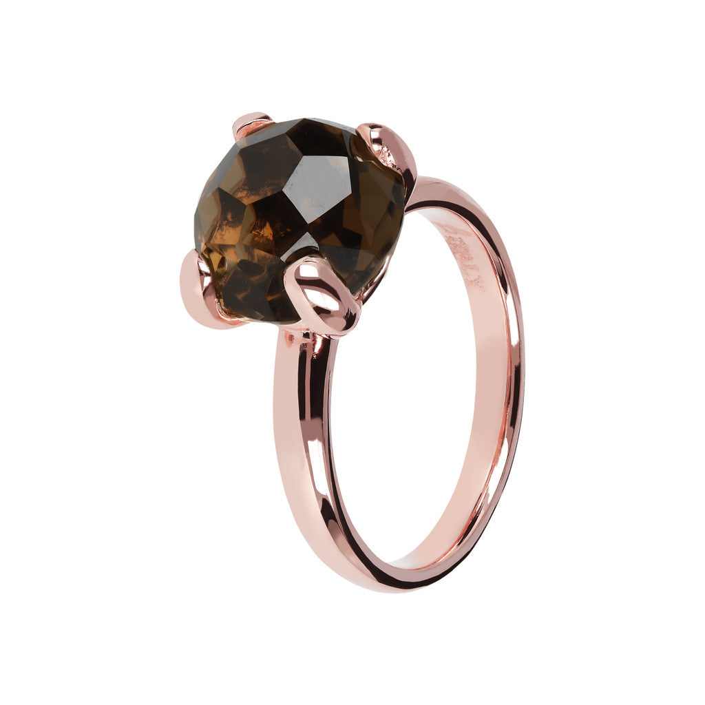Cocktail Rings with Gemstone SMOKY QUARTZ
