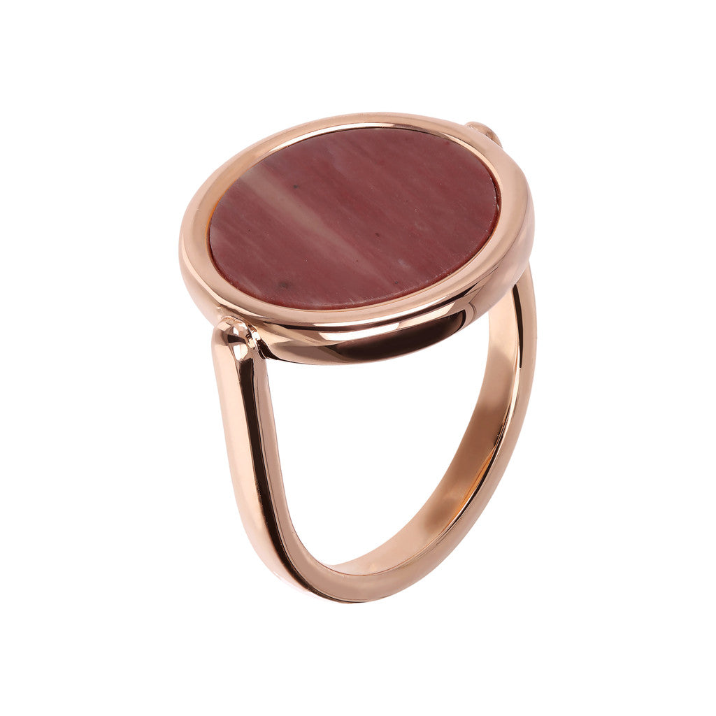 Cosmo Color Ring RED FOSSIL WOOD
