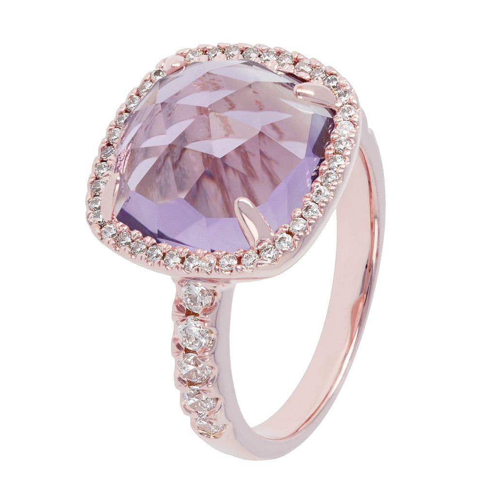Bronzallure | Rings | Cushion Cut Amethyst Ring