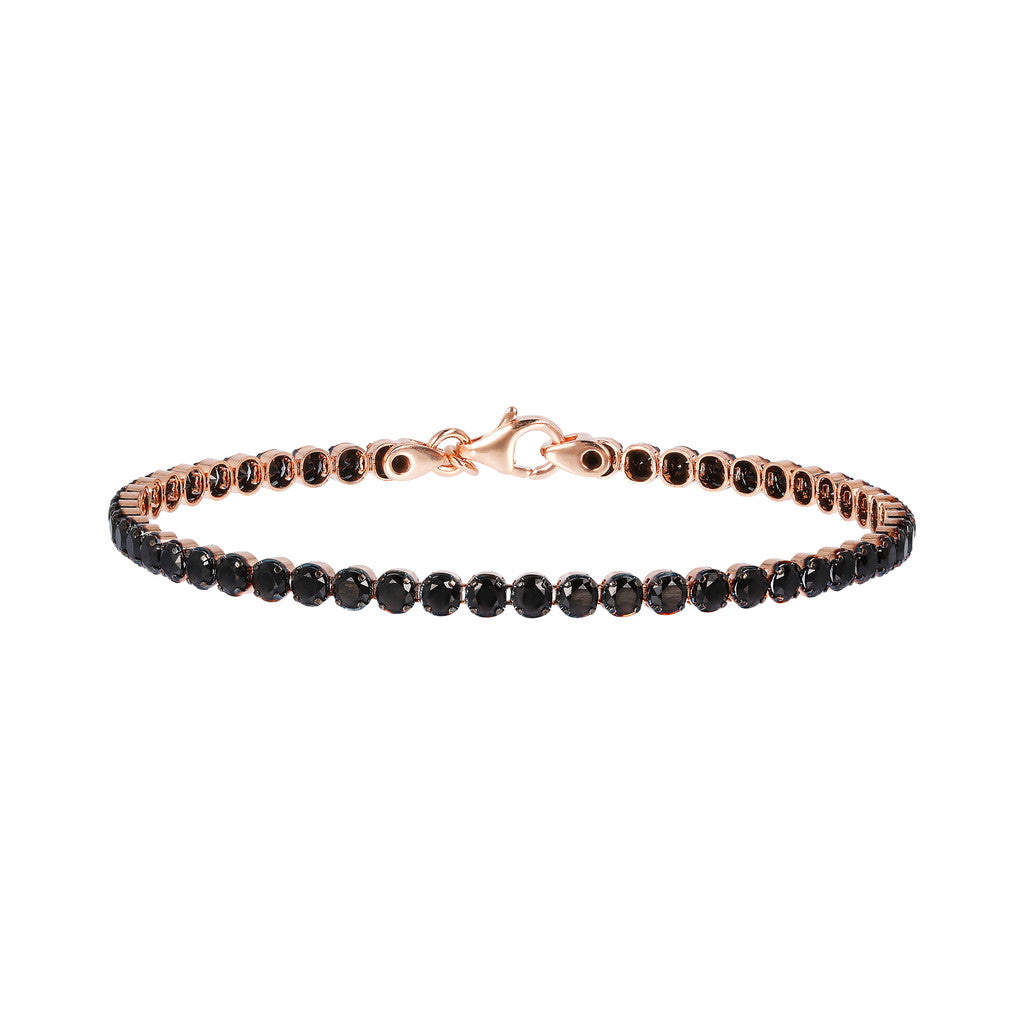 Cz tennis bracelet BLACK SPINEL