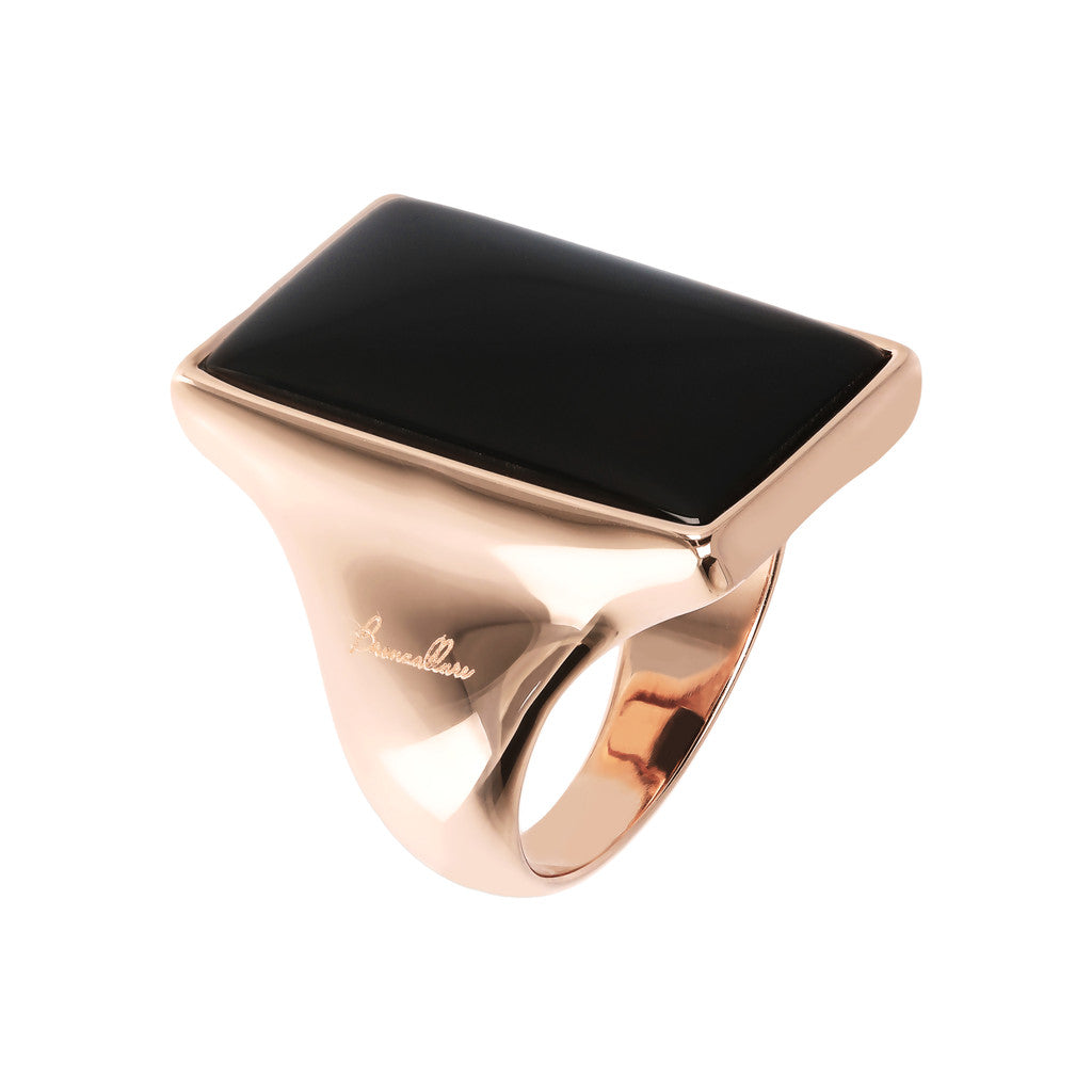 Bronzallure | Rings | Design Ring With Rectangular Stone