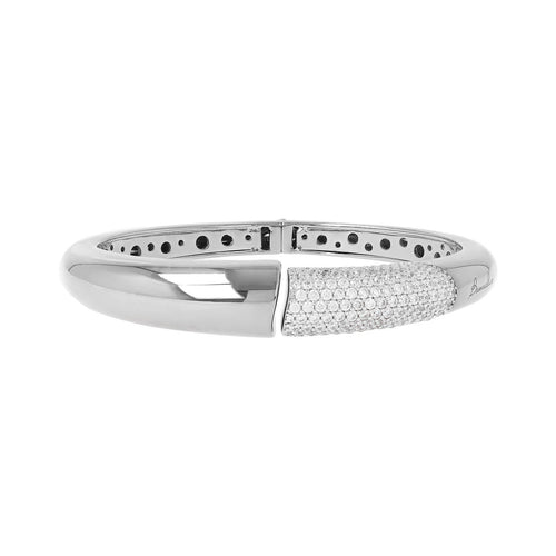White gold bangle Luna
