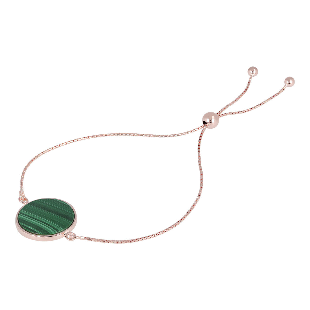 Disc Friendship Bracelet MALACHITE