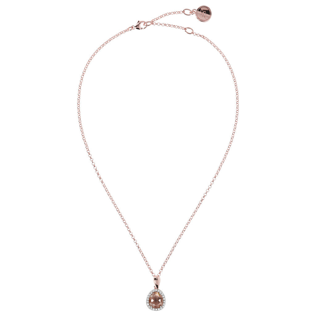 Drop Pendant Neckalce MORGANITE from above