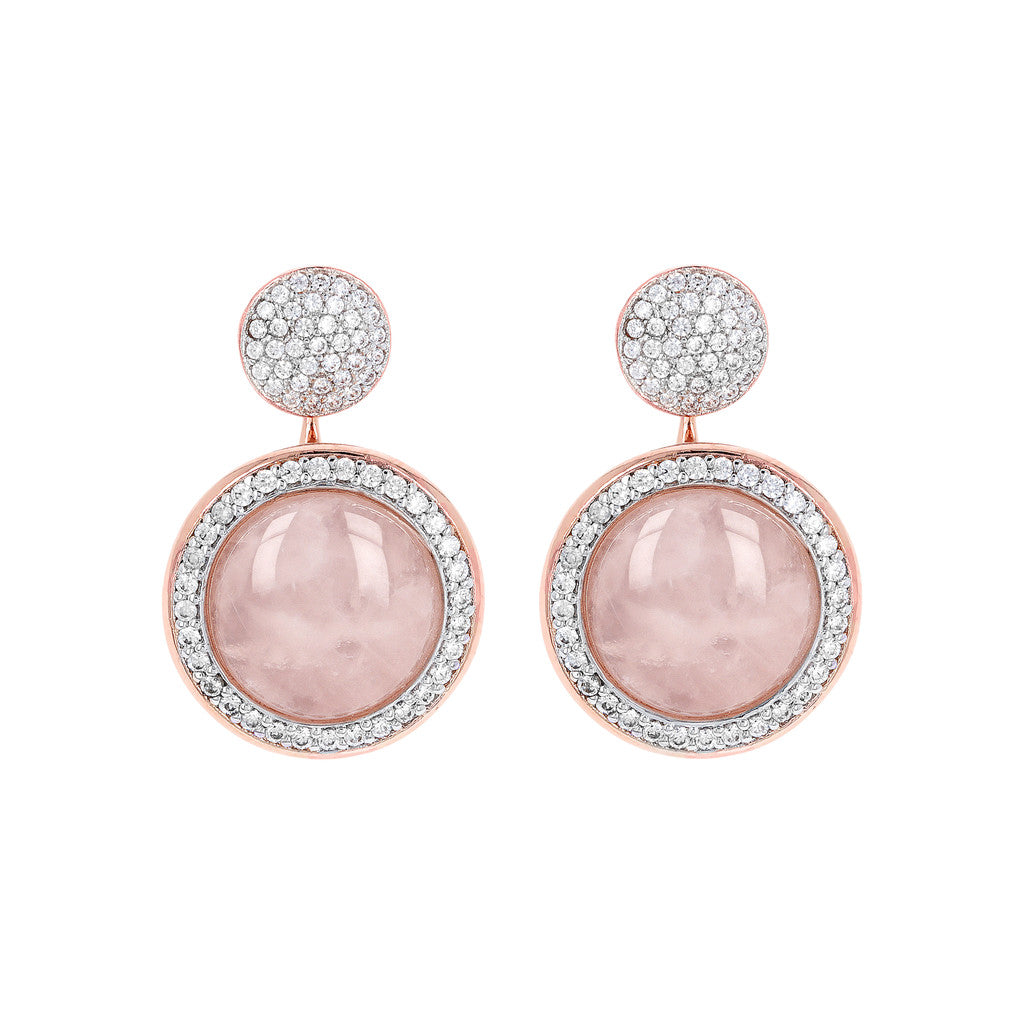Milanese Drop Stone Earrings