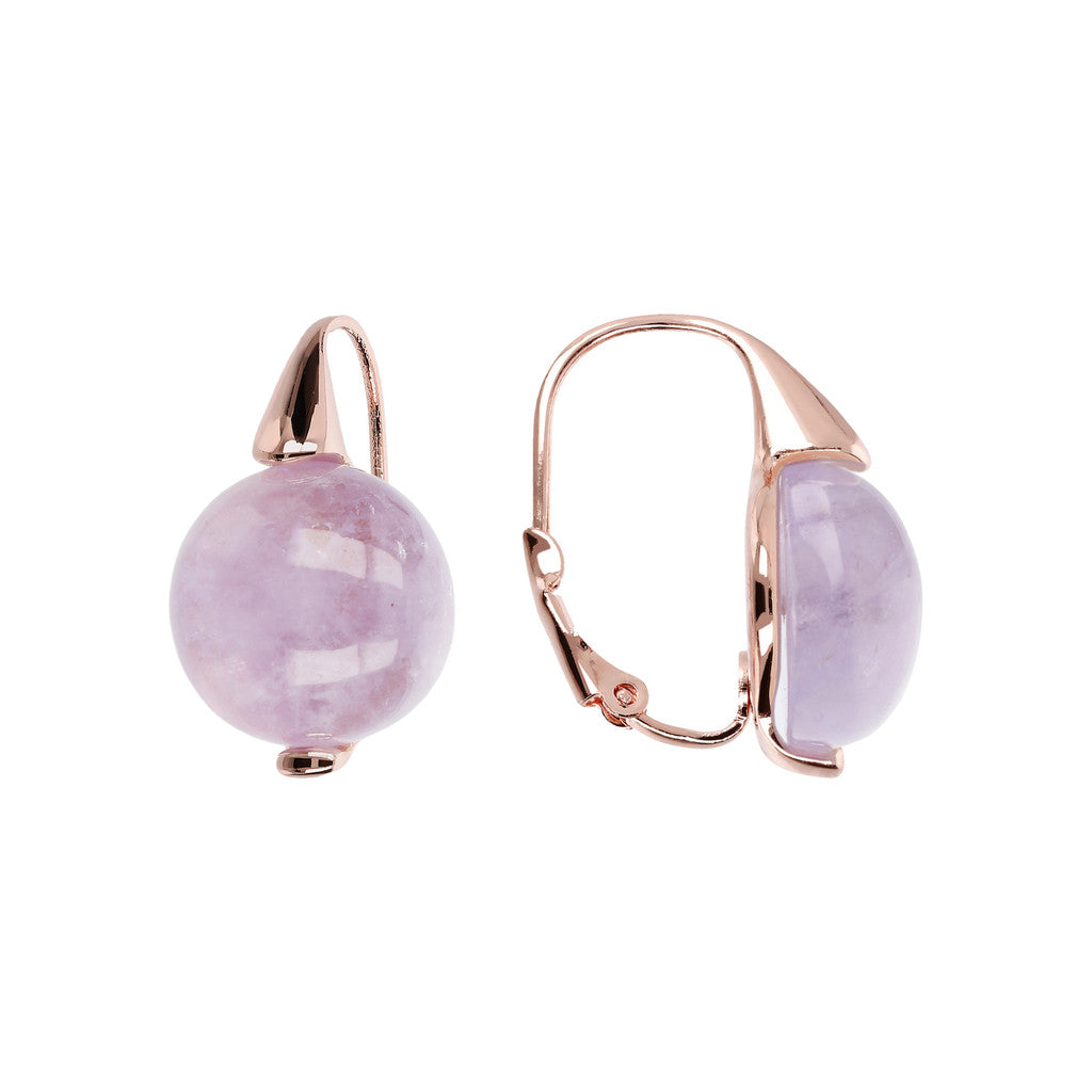 Elegance Earrings AMETHYST front and side