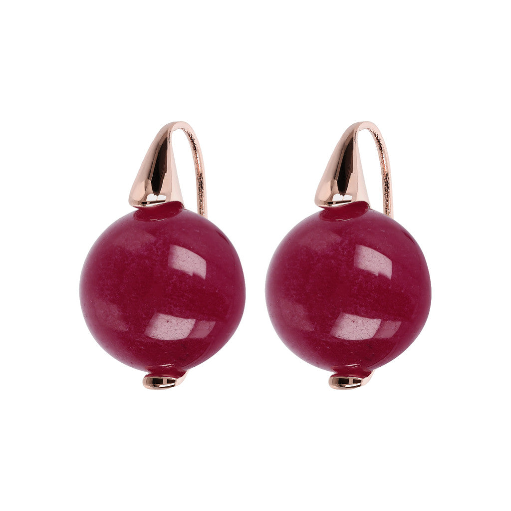Elegance Earrings PLUM AGATE