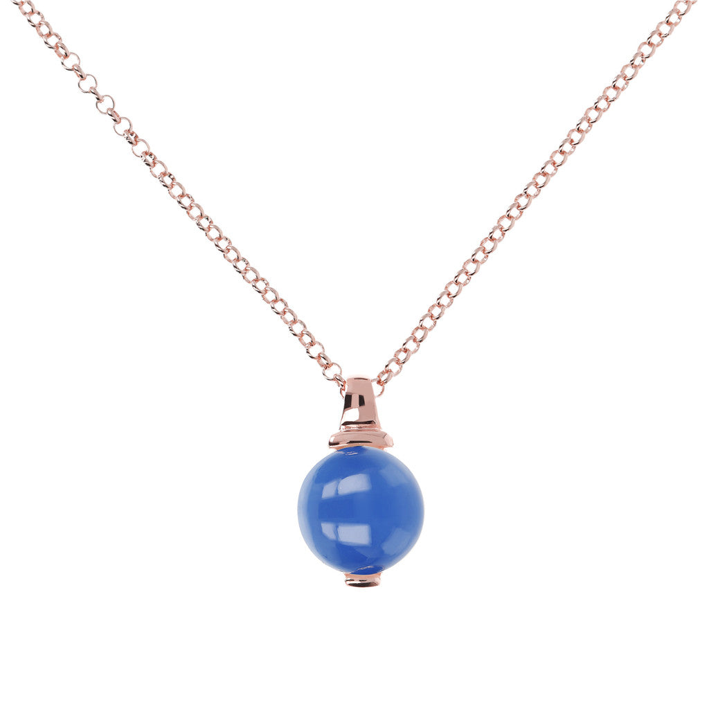 Elegance Necklace BLUE CHALCEDONY
