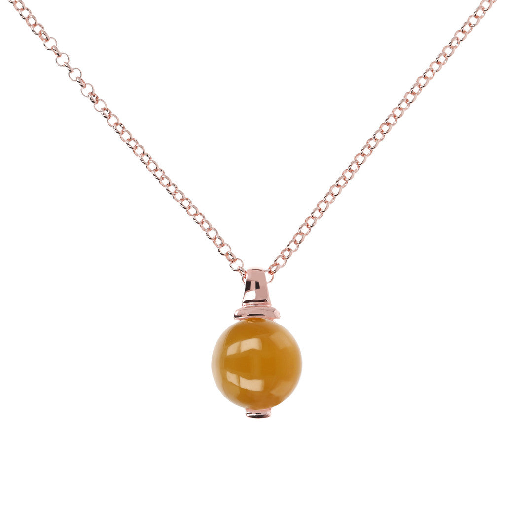 Elegance Necklace ORANGE CHALCEDONY