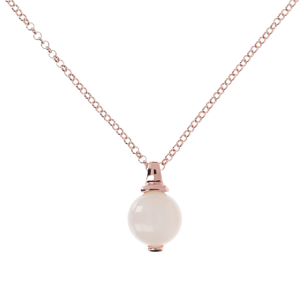 Elegance Necklace WHITE CHALCEDONY