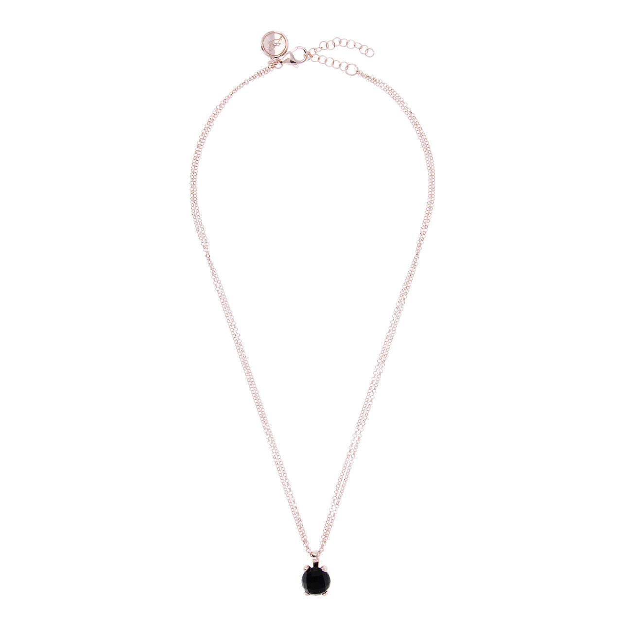 Essential Gemstone Pendant BLACK ONYX from above