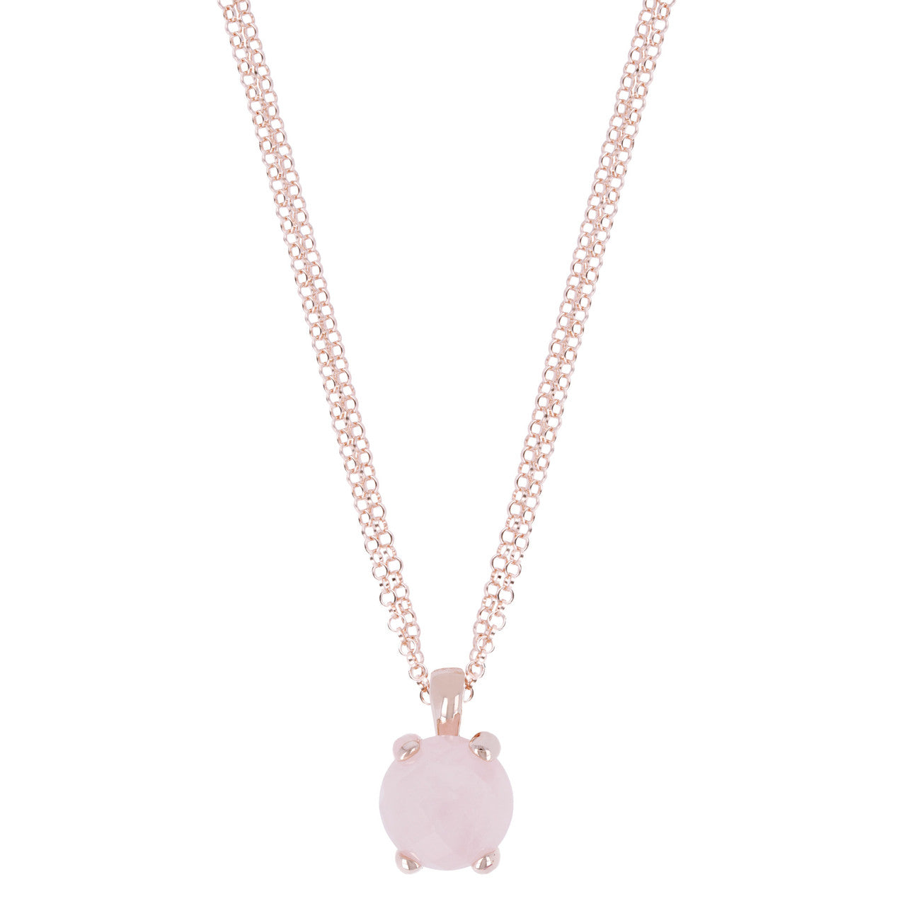 Essential Gemstone Pendant ROSE QUARTZ