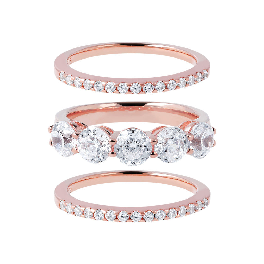 Eternity and Solitaire Ring Set  setting