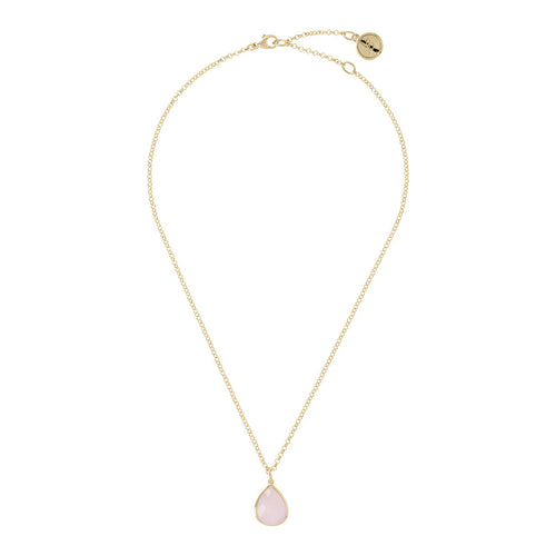 INCANTO BRONZALLURE GOLDEN 47CM ROLO NECKLACE W/ FACETED DROP SHAPE GEMSTONE PENDANT - WSBZ00791Y from above